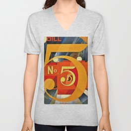 Charles Demuth - I Saw the Figure 5 in Gold - Digital Remastered Edition Unisex V-Neck