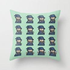 Pixel Wizard Sprite Sheet 2016  Throw Pillow