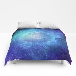 Abstract Flower of life Deep Space Comforters