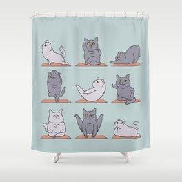 British Shorthair Cat  Yoga Shower Curtain