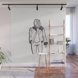 Moto Jacket Girl Wall Mural