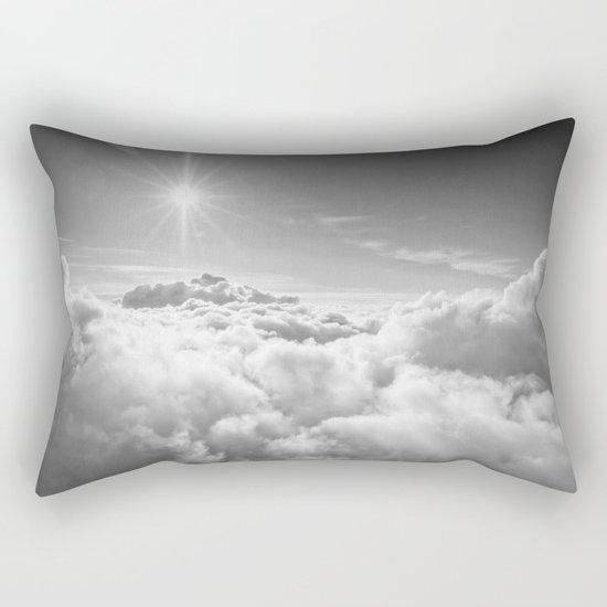 Clouds Gray & White Rectangular Pillow