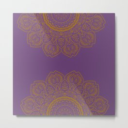Golden Sunflower Mandala #2 Metal Print