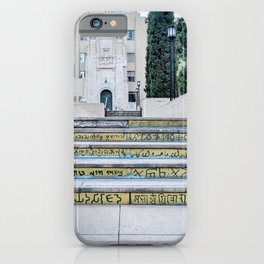 Steps of Gods (yellow) iPhone Case