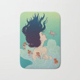 Underwater Lady Bath Mat