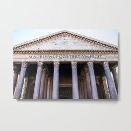 The Beautiful Pantheon of Rome, Italy Metal Print