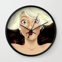 naked Wall Clocks featuring naked by ART-is-TRY