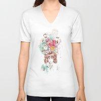 ariana grande V-neck T-shirts featuring Thinking by Ariana Perez