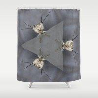 bugs Shower Curtains featuring Alien Bugs by Deborah Janke