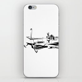 P-40 Curtiss Wright Warhawk Rock On WWII Shark Airplane Pilot iPhone Skin