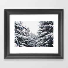 SNOWFOREST Framed Art Print