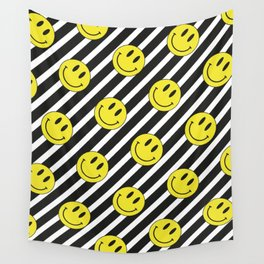 Smiley and Stripes Wall Tapestry