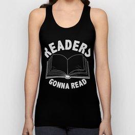 Readers Gonna Read Avid Reader T-Shirt Unisex Tank Top