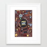 cargline Framed Art Prints featuring WWA Poster by cargdoodles