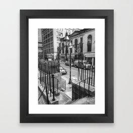 Province Steps Framed Art Print