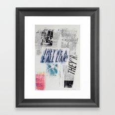 LIARS Framed Art Print