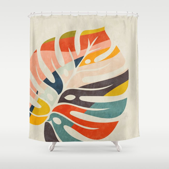 shape leave modern mid century Shower Curtain