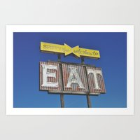 eat Art Prints featuring eat by bellehibou