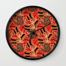 Leaf In Abstract Wall Clock