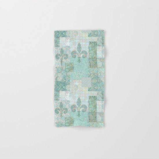 teal baroque patchtwork Hand & Bath Towel