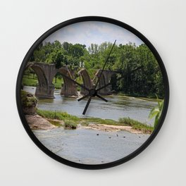 Trestle Over the Maumee II Wall Clock