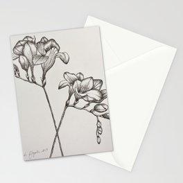 Freesias Sketch Stationery Cards