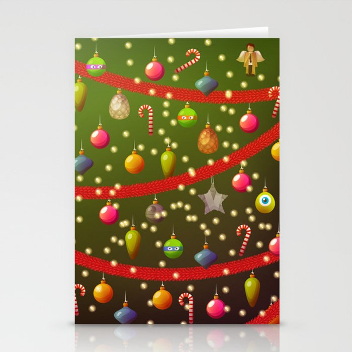Look at these Christmas decorations! Stationery Cards