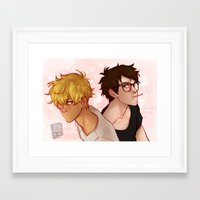 johannathemad Framed Art Prints featuring this was a twitter banner buuut... by JohannaTheMad