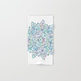 Mermaid Dreams Mandala on White Hand & Bath Towel