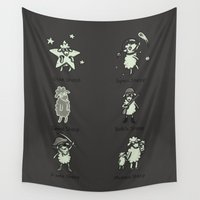 sheep Wall Tapestries featuring Sheep by Lili Batista