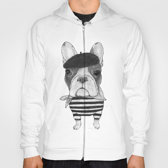 French Bulldog. (black and white version) Hoody