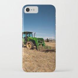 John Deere Tractor in Field iPhone Case