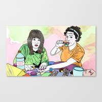 broad city Canvas Prints featuring BROAD CITY by Essie Jean