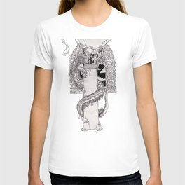 Dot shaded dragon T-shirt