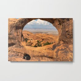 Double O Arches Utah, United States Metal Print
