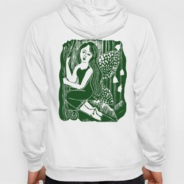 Forest Fairy Printmaking Art Hoody