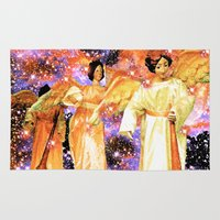 angels Area & Throw Rugs featuring Angels by Saundra Myles