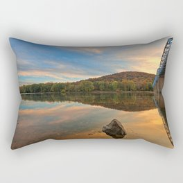 Point of Rocks Sunset Rectangular Pillow