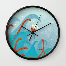 A Bad Day for Sailors Wall Clock