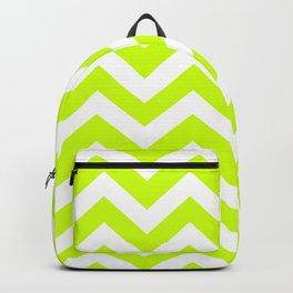 Volt - green color - Zigzag Chevron Pattern Backpack