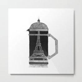 French Press Metal Print