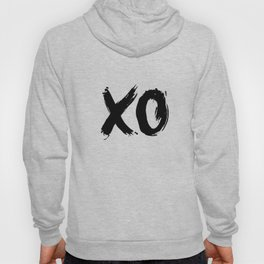 XO Hugs and Kisses black and white xoxo gift for her girlfriend bedroom art and home room wall decor Hoody