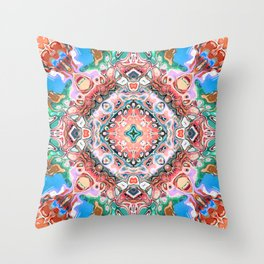 Textured Abstract Tile Pattern Throw Pillow