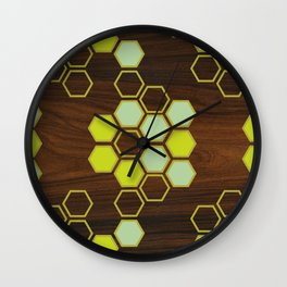 Hex in Green Wall Clock