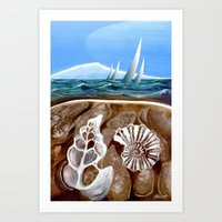 geology Art Prints featuring The Geology of Boating by Patricia Howitt