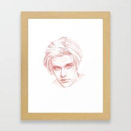 Dana Ashbrook as Bobby Briggs Twin Peaks Framed Art Print