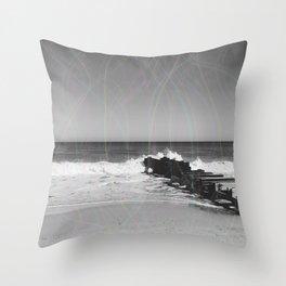 beach scene lights Throw Pillow