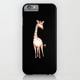 Waterolor giraffe drawing gift for giraffe fans iPhone Case