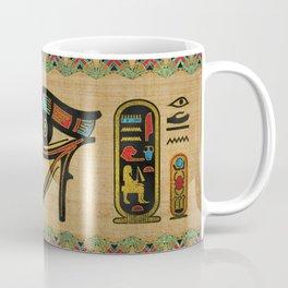 Egyptian Eye of Horus Ornament on papyrus Coffee Mug