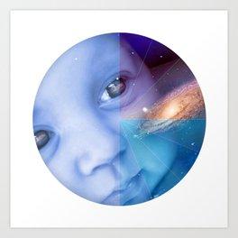 Galaxy Baby Art Print
